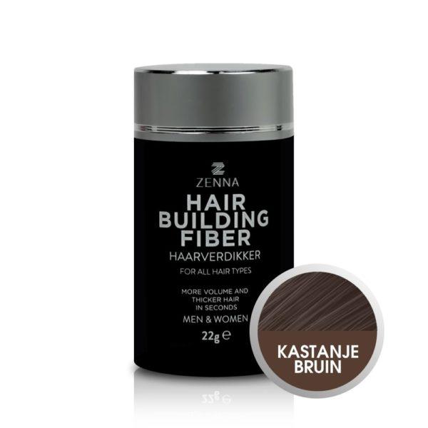 Zenna Hair Building Fibers in kleur kastanjebruin